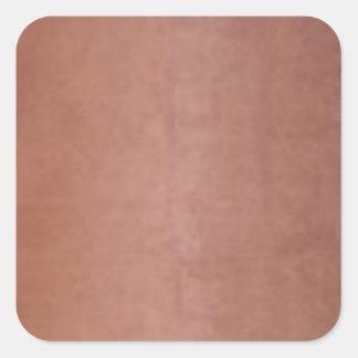 明白な金銅のブラウン スクエアシール
