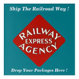 明白な鉄道は鉄道方法を出荷します アクリルウォールアート