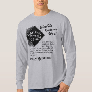 明白な鉄道-鉄道方法Tシャツを出荷して下さい Tシャツ