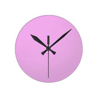 明白な陰のピンク: 書きますか、またはイメージを加えて下さい ラウンド壁時計