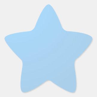 明白な陰: 空色 星シール