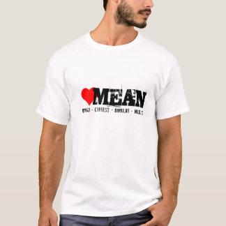 明白な、角平均積み重ね、mongoおよびnode.js tシャツ