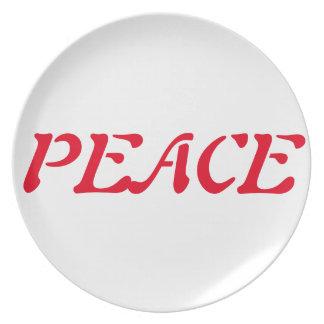 明示の祈りの言葉のプレート; 平和、愛、喜び… プレート