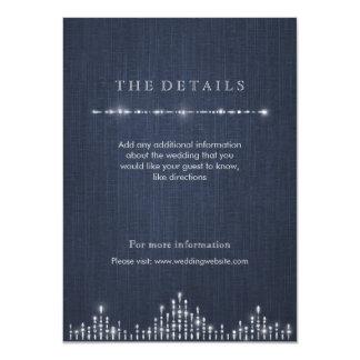 明細カードを結婚する魅力的な銀製のアール・デコのヴィンテージ 11.4 X 15.9 インビテーションカード