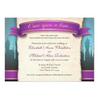 昔々おとぎ話の結婚式招待状 カード