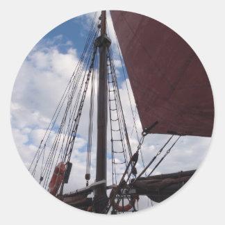 昔ながらので赤い帆 ラウンドシール