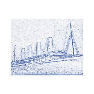 昔の巡航 キャンバスプリント