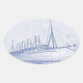 昔の巡航 楕円形シール