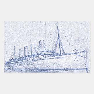 昔の巡航 長方形シール
