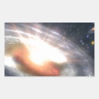 星およびブラックホール 長方形シール