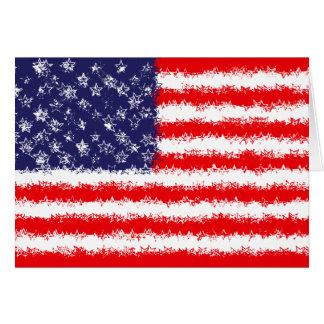星および星条旗 カード