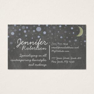 星および月とのヴィンテージの黒板のデザイン 名刺