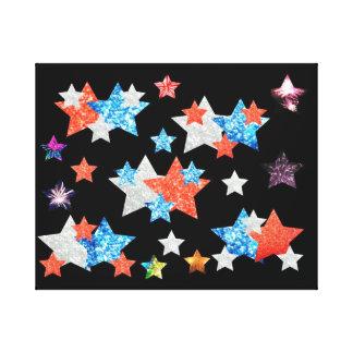 星および花火 キャンバスプリント