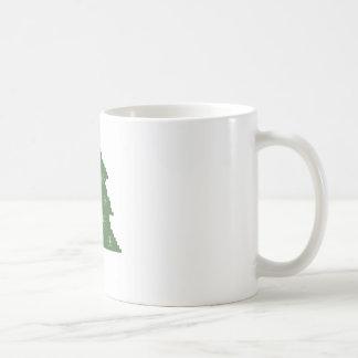 星が付いているクリスマスツリー コーヒーマグカップ