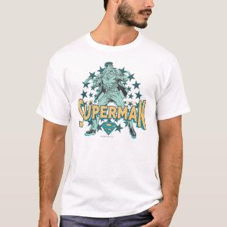 星が付いているスーパーマンの変更 Tシャツ