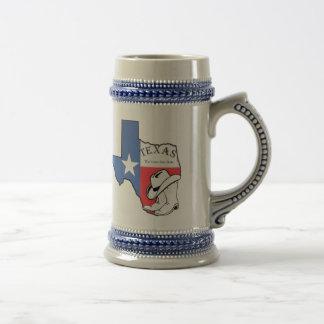 星が付いているテキサス州の州の地図は帽子陶磁器のステインを追い出します ビールジョッキ