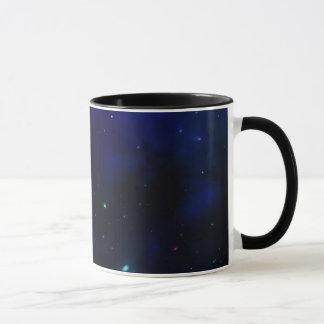 星が付いている真夜中の青空 マグカップ