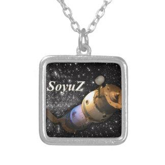星が付いている空のSoyuzのロシアのな宇宙船 ネックレス