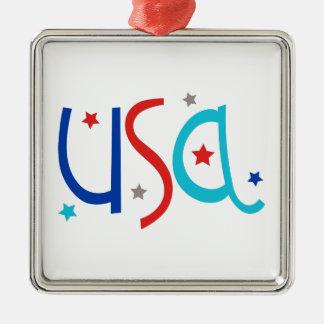 星が付いている米国 メタルオーナメント