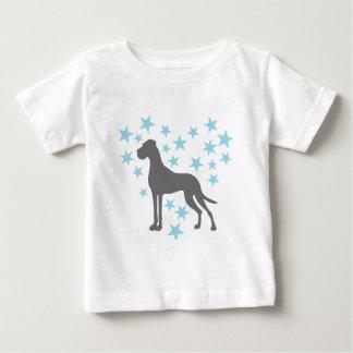 星として犬 ベビーTシャツ