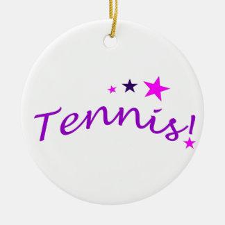 星とのアーチ形にされたテニス セラミックオーナメント