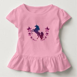 星とのユニコーン トドラーTシャツ