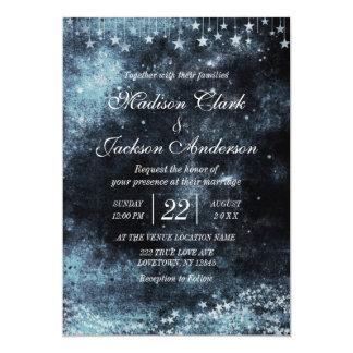 星によって打たれる水彩画の銀河系の結婚式招待状 カード