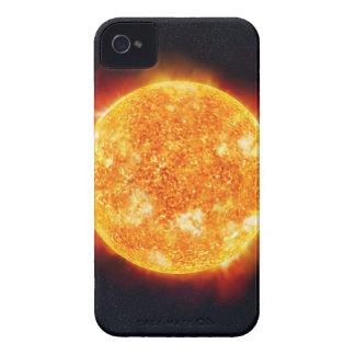 星に対して太陽フレアを示す日曜日 Case-Mate iPhone 4 ケース