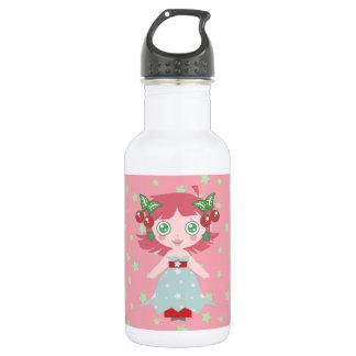 星のさくらんぼの女の子 ウォーターボトル
