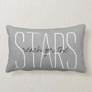 星のための素朴な灰色の範囲 ランバークッション