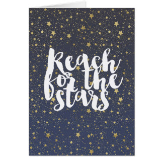 星のための金ゴールドの星の範囲 カード