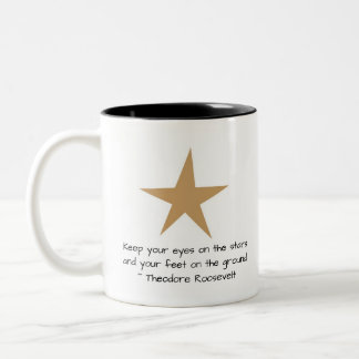 星のカスタムな引用文の星のマグをあなたの監視して下さい ツートーンマグカップ