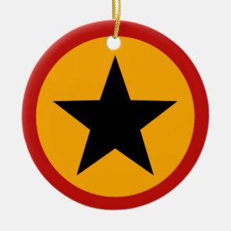 星のクリスマスのオーナメント セラミックオーナメント
