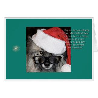 星のクリスマスカードの後 カード