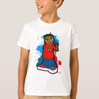 星のゲットーのギャングの通りのフードのスタイルの濶歩 Tシャツ