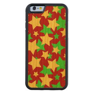 星のサーカス! (赤い緑及び黄色) ~ CarvedチェリーiPhone 6バンパーケース