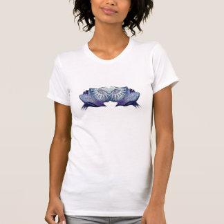 星のシャムの紫色 Tシャツ