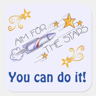 星のステッカーのための目標 スクエアシール