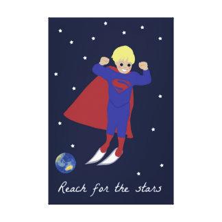 星のスーパーヒーローのための範囲 キャンバスプリント