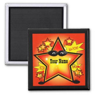 星のスーパーヒーローの子供の名前のカスタムの磁石 マグネット
