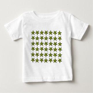星のタイル ベビーTシャツ