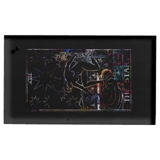 星のタロットのパーティの黒 テーブルカードホルダー