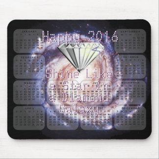 星のダイヤモンドの銀河系のような2016のカレンダーの輝やき マウスパッド
