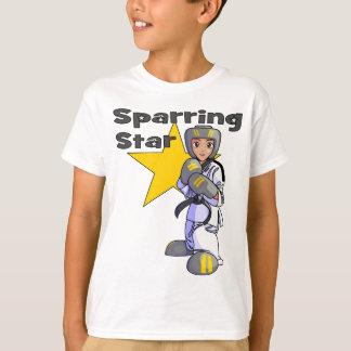 星のテコンドーの小競合の黒帯 Tシャツ