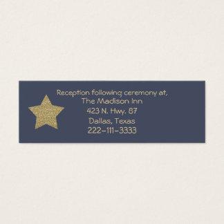 星のテーマの結婚式のエンクロージャカード スキニー名刺