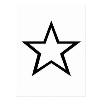 星のデザイン! ポストカード