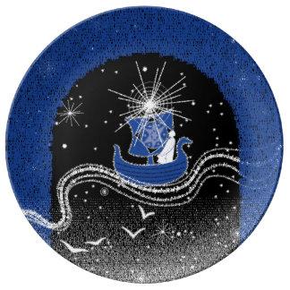 星のプレートの上昇 磁器プレート