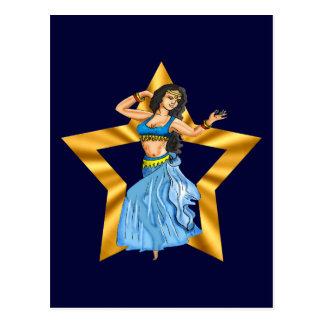 星のベリーダンスの女の子 ポストカード