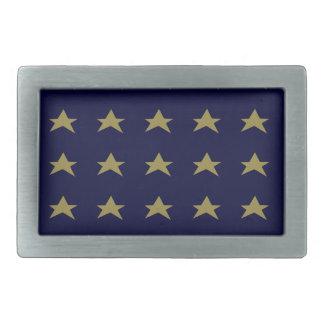 星のベルトの留め金は文字を加えます 長方形ベルトバックル
