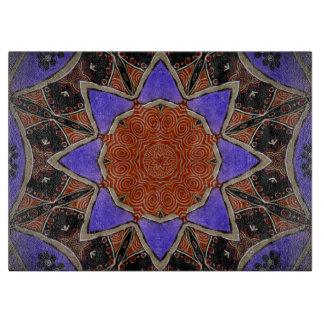 星の万華鏡のように千変万化するパターン カッティングボード
